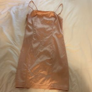 Urban Outfitters pink silk dress